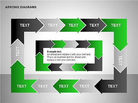 Chain Process Arrows Diagram, Slide 12, 00236, Text Boxes — PoweredTemplate.com