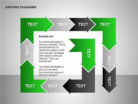 Chain Process Arrows Diagram, Slide 13, 00236, Text Boxes — PoweredTemplate.com