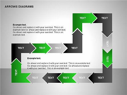 Chain Process Arrows Diagram, Slide 14, 00236, Text Boxes — PoweredTemplate.com