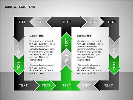 Chain Process Arrows Diagram, Slide 15, 00236, Text Boxes — PoweredTemplate.com