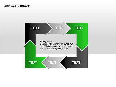 Chain Process Arrows Diagram, Slide 2, 00236, Text Boxes — PoweredTemplate.com
