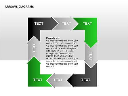 Chain Process Arrows Diagram, Slide 3, 00236, Text Boxes — PoweredTemplate.com