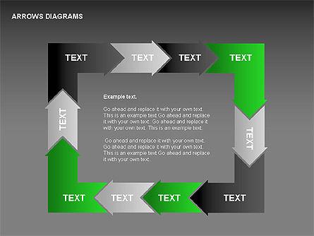 Chain Process Arrows Diagram, Slide 4, 00236, Text Boxes — PoweredTemplate.com