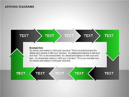Chain Process Arrows Diagram, Slide 5, 00236, Text Boxes — PoweredTemplate.com
