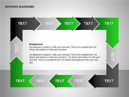 Chain Process Arrows Diagram, Slide 6, 00236, Text Boxes — PoweredTemplate.com