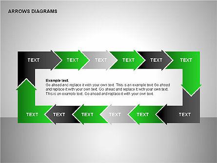 Chain Process Arrows Diagram, Slide 7, 00236, Text Boxes — PoweredTemplate.com