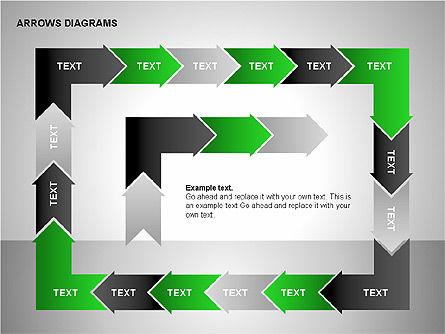 Chain Process Arrows Diagram, Slide 9, 00236, Text Boxes — PoweredTemplate.com