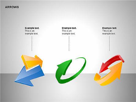 Interaction Arrows Collection Diagrams, Slide 10, 00237, Shapes — PoweredTemplate.com
