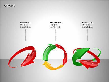 Interaction Arrows Collection Diagrams, Slide 11, 00237, Shapes — PoweredTemplate.com