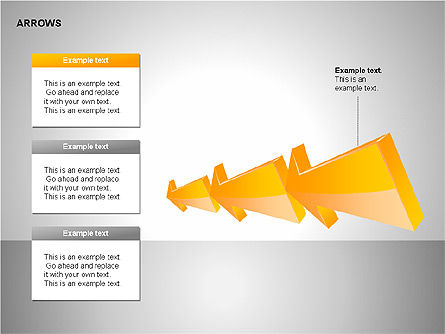 Interaction Arrows Collection Diagrams, Slide 13, 00237, Shapes — PoweredTemplate.com