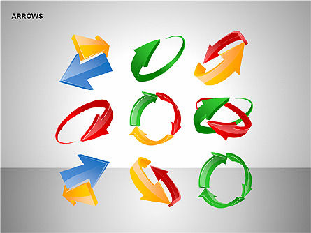 Interaction Arrows Collection Diagrams, Slide 15, 00237, Shapes — PoweredTemplate.com