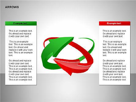 Interaction Arrows Collection Diagrams, Slide 6, 00237, Shapes — PoweredTemplate.com
