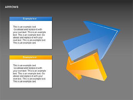 Interaction Arrows Collection Diagrams, Slide 7, 00237, Shapes — PoweredTemplate.com