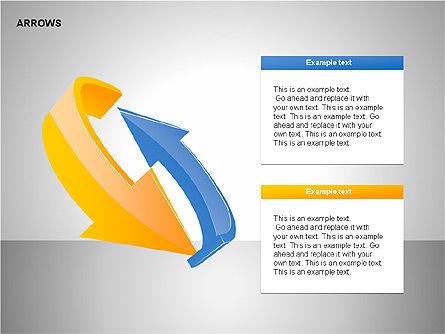 Interaction Arrows Collection Diagrams, Slide 8, 00237, Shapes — PoweredTemplate.com