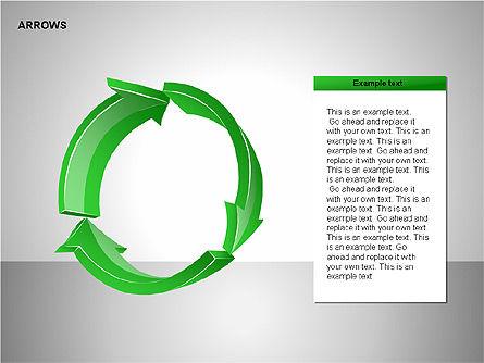Interaction Arrows Collection Diagrams, Slide 9, 00237, Shapes — PoweredTemplate.com