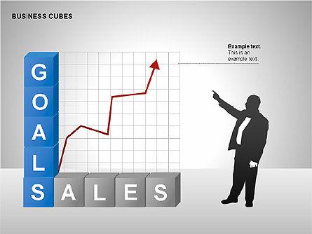 Business Cubes Diagrams, Slide 10, 00240, Matrix Charts — PoweredTemplate.com
