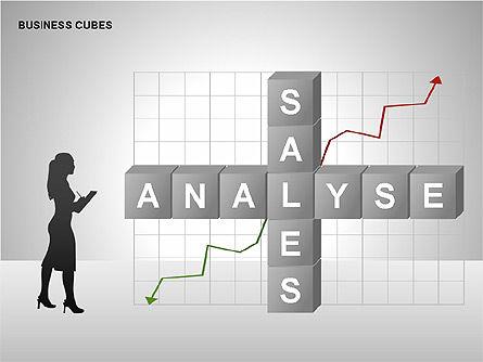 Business Cubes Diagrams, Slide 12, 00240, Matrix Charts — PoweredTemplate.com