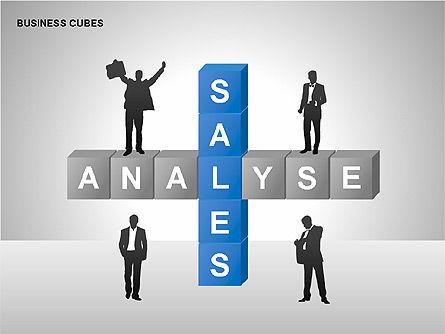 Business Cubes Diagrams, Slide 13, 00240, Matrix Charts — PoweredTemplate.com