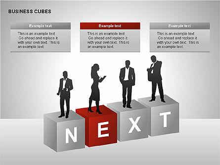 Business Cubes Diagrams, Slide 15, 00240, Matrix Charts — PoweredTemplate.com