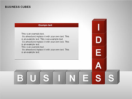 Business Cubes Diagrams, Slide 4, 00240, Matrix Charts — PoweredTemplate.com