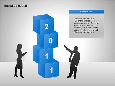 Business Cubes Diagrams, Slide 7, 00240, Matrix Charts — PoweredTemplate.com