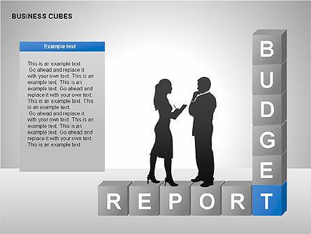 Business Cubes Diagrams, Slide 8, 00240, Matrix Charts — PoweredTemplate.com