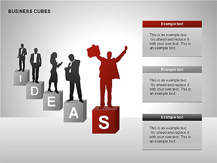 Business Cubes Diagrams, Slide 9, 00240, Matrix Charts — PoweredTemplate.com
