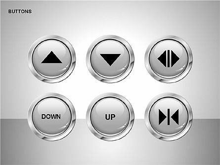 Buttons with Icons Collection Slide 2