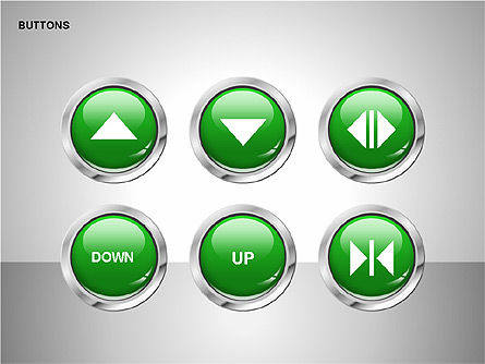 Buttons with Icons Collection, Slide 4, 00241, Icons — PoweredTemplate.com