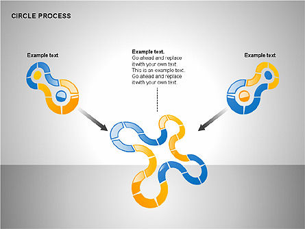 Circle Process Toolbox, Slide 14, 00242, Process Diagrams — PoweredTemplate.com