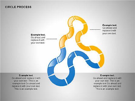 Circle Process Toolbox, Slide 2, 00242, Process Diagrams — PoweredTemplate.com