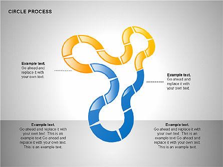 Circle Process Toolbox, Slide 4, 00242, Process Diagrams — PoweredTemplate.com