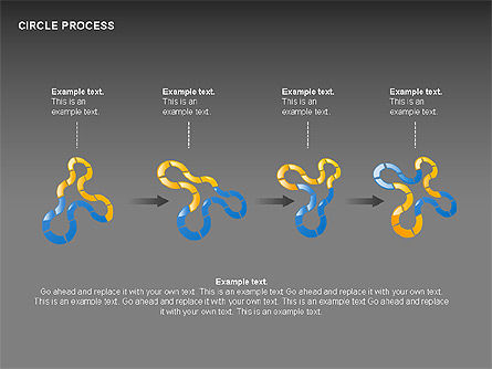 Circle Process Toolbox, Slide 5, 00242, Process Diagrams — PoweredTemplate.com