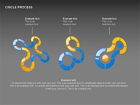 Circle Process Toolbox, Slide 8, 00242, Process Diagrams — PoweredTemplate.com
