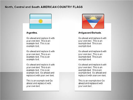 Shapes: Free North, Central and South America Countries Flags #00245