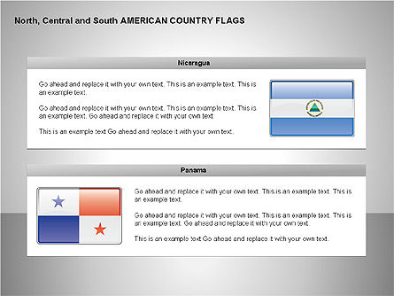 Free North, Central and South America Countries Flags, Slide 10, 00245, Shapes — PoweredTemplate.com