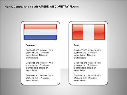 Free North, Central and South America Countries Flags, Slide 11, 00245, Shapes — PoweredTemplate.com