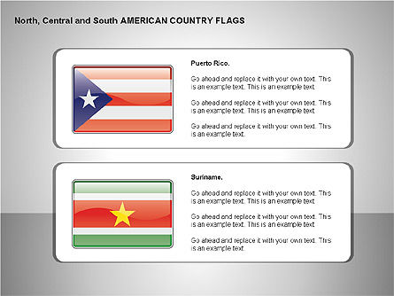 Free North, Central and South America Countries Flags, Slide 12, 00245, Shapes — PoweredTemplate.com