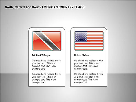 Free North, Central and South America Countries Flags, Slide 13, 00245, Shapes — PoweredTemplate.com