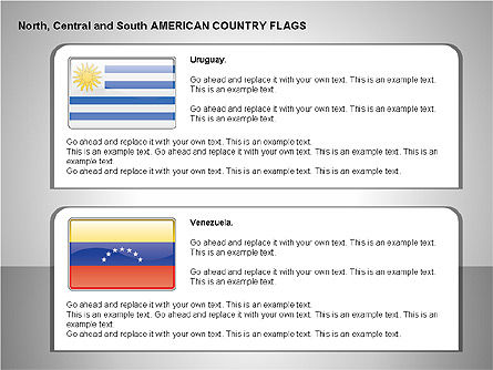 Free North, Central and South America Countries Flags, Slide 14, 00245, Shapes — PoweredTemplate.com