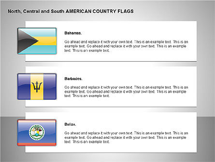 Free North Central and South America Countries Flags Slide 2