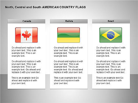 Free North Central and South America Countries Flags Slide 3