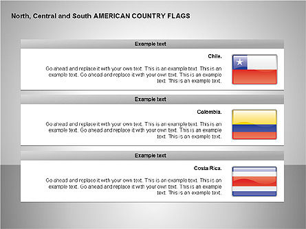 Free North Central and South America Countries Flags Slide 4