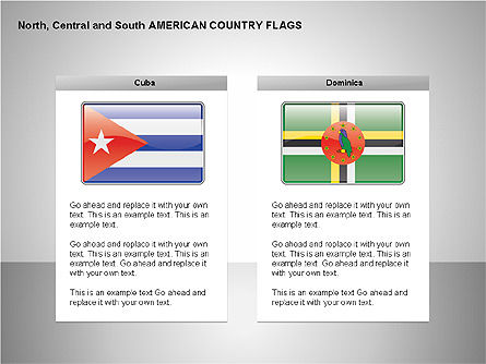 Free North, Central and South America Countries Flags, Slide 5, 00245, Shapes — PoweredTemplate.com