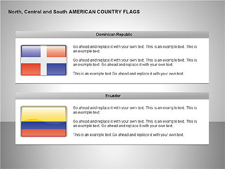 Free North, Central and South America Countries Flags, Slide 6, 00245, Shapes — PoweredTemplate.com