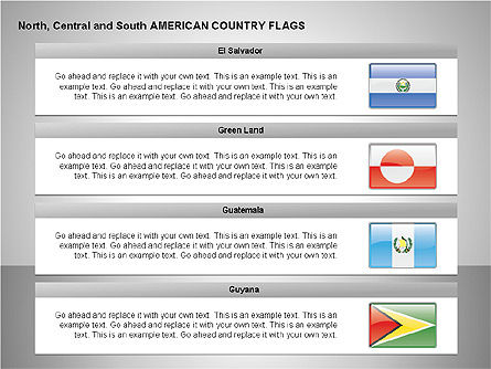 Free North, Central and South America Countries Flags, Slide 7, 00245, Shapes — PoweredTemplate.com