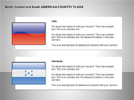 Free North, Central and South America Countries Flags, Slide 8, 00245, Shapes — PoweredTemplate.com