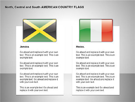 Free North, Central and South America Countries Flags, Slide 9, 00245, Shapes — PoweredTemplate.com