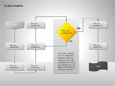 Flow Chart Tools, Slide 10, 00246, Flow Charts — PoweredTemplate.com