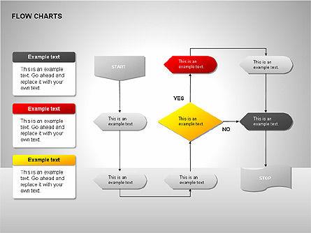 Flow Chart Tools, Slide 11, 00246, Flow Charts — PoweredTemplate.com